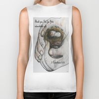 gift card Biker Tanks featuring His Indescribable Gift by EloiseArt
