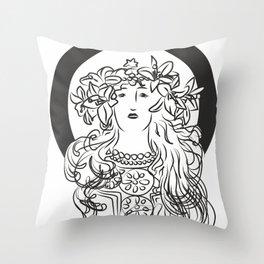 Mucha's Inspiration Throw Pillow