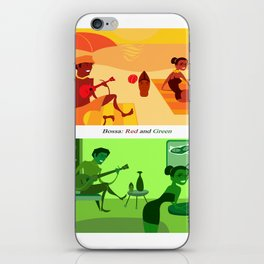 Bossa Red and Green iPhone Skin
