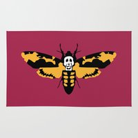 silence of the lambs Area & Throw Rugs featuring The Silence of the Lambs by FilmsQuiz
