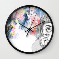creativity Wall Clocks featuring Creativity by p-antiscians