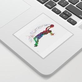 Basketball Girl Player Sports Art Print Sticker