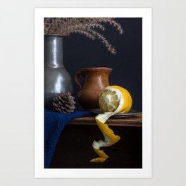 Stil life with lemon peel l Food Photography Art Art Print