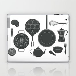 Kitchen Tools (black on white) Laptop & iPad Skin