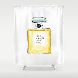 Yellow Perfume Shower Curtain