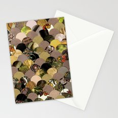 Autumn Scalloped Pattern Stationery Cards