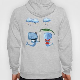 Adorable Whales - PAINTED Hoody