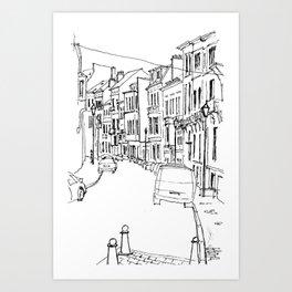 Brussels Streetscape Art Print