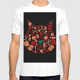 Trash Cat Pattern T-shirt