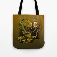 Robot Reptile Raygun Tote Bag