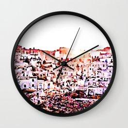 Sassi di Matera Wall Clock