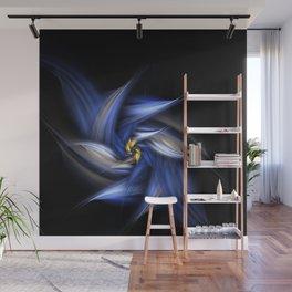 Blue Daisy Wall Mural