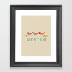 Fly Away Framed Art Print