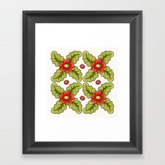 Guild of flowers and leaves! Framed Art Print