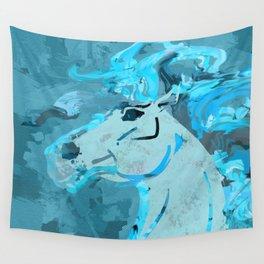 Mixed media  horse digital art Wall Tapestry