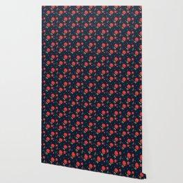 Classic western rose pattern Wallpaper