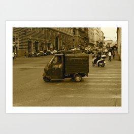 Little Truck, Big City Art Print