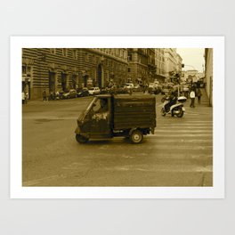 Little Truck, Big City Art Print