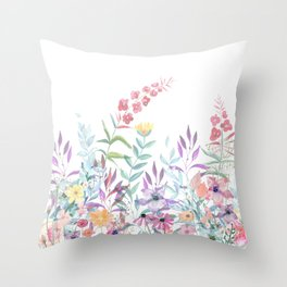 Sweet Spring Meadow Throw Pillow