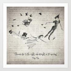Peter Pan Quote Art Print