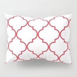 Quatrefoil - Rose Red Pillow Sham