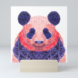 Don't Be Scared To Be Different If You're Already Rare (Panda Animal Painting Stippled Pop Art) Mini Art Print
