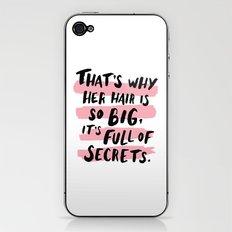 It's Full Of Secrets iPhone & iPod Skin