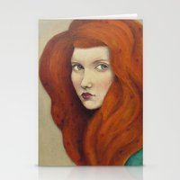 flora Stationery Cards featuring Flora by Sofia Bonati