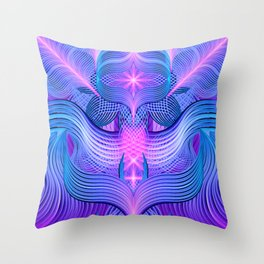 Dreaming Frequency Temple Throw Pillow
