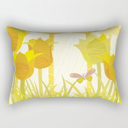 Sunny Spring Garden Rectangular Pillow