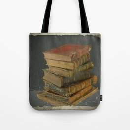 GRUBY SHABBY CHIC ANTIQUE LIBRARY BOOKS Tote Bag