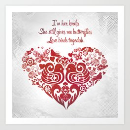 Baybeh Heart Haiku Art Print