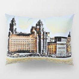 Liverpool Waterfront Skyline (Digital Art) Pillow Sham