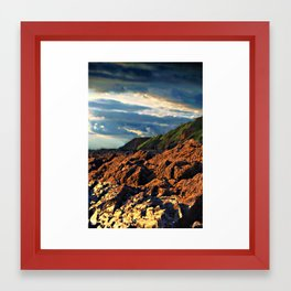 clouds over saunton Framed Art Print