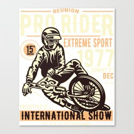 Pro Rider International Show - Motocross, Motobike, Biker Stunts T Shirt Canvas Print
