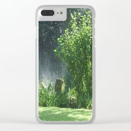 My garden Clear iPhone Case