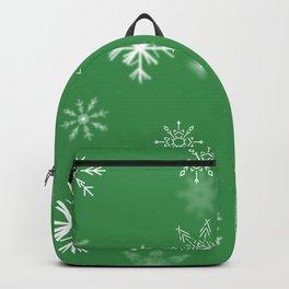 Christmas Snowflakes: Green Backpack