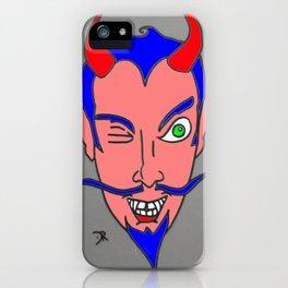 WINK-DEVIL HEAD iPhone Case
