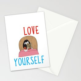 Learning To Love Yourself Self Confidence Stationery Cards