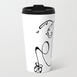 backbend hi whimsical ink drawing Jordan E Eismont Travel Mug