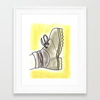 shoe Framed Art Prints featuring shoe by yayanastasia