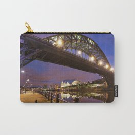 Bridges over the river Tyne in Newcastle, England at night Carry-All Pouch