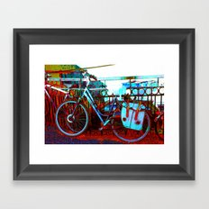 urban bike collage Framed Art Print