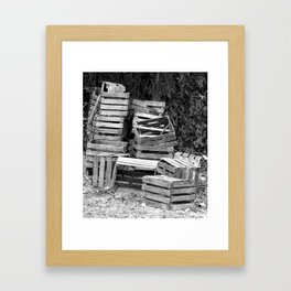 Apple Crates Stacked Framed Art Print
