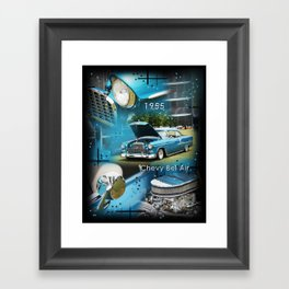 1955 Chevy Bel Air Framed Art Print