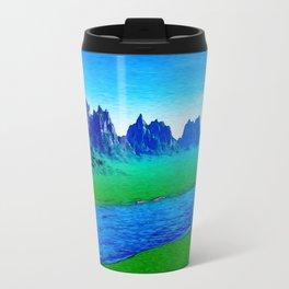 Mountain River Landscape Travel Mug