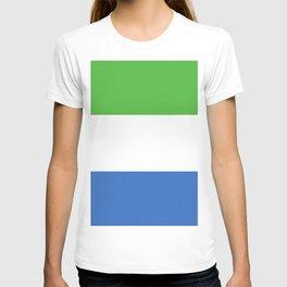 Sierra Leone flag emblem T-shirt