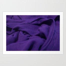 Purple Velvet Dune Textile Folds Concept Photography Art Print