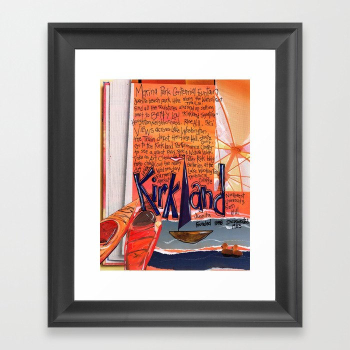 Kirkland Washington Framed Art Print by maryklumpstudio | Society6
