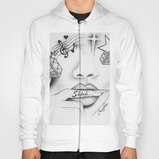 Rihanna - Shine bright like a diamond 'Shhh..' lips - Ashley Rose Hoody